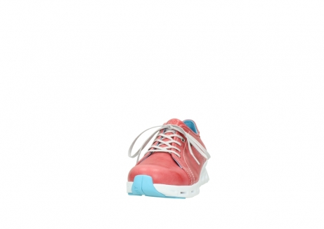 wolky sneakers 02051 mega 30570 rood zomer leer_20