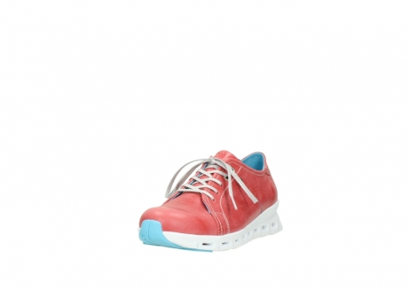 wolky sneakers 02051 mega 30570 rood zomer leer_21