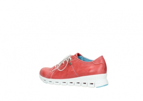 wolky sneakers 02051 mega 30570 rood zomer leer_3