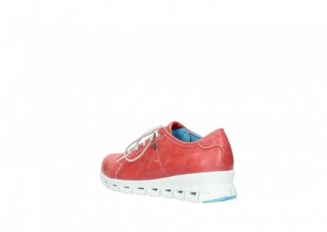 wolky sneakers 02051 mega 30570 rood zomer leer_4