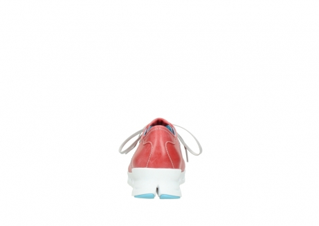 wolky sneakers 02051 mega 30570 rood zomer leer_7
