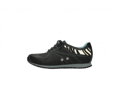 wolky sneakers 1480 ibrox 207 zwart zebraprint leer_1