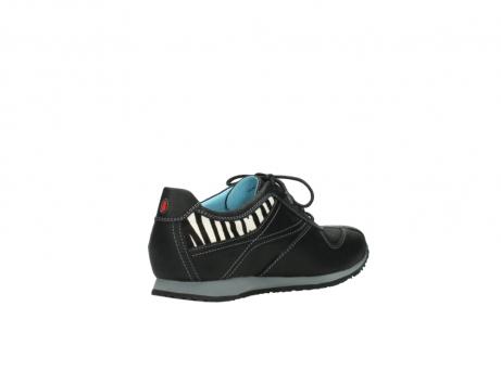 wolky sneakers 1480 ibrox 207 zwart zebraprint leer_10