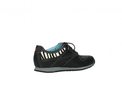 wolky sneakers 1480 ibrox 207 zwart zebraprint leer_11