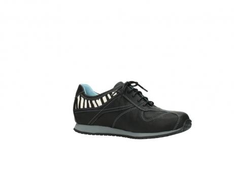 wolky sneakers 1480 ibrox 207 zwart zebraprint leer_15