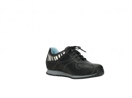 wolky sneakers 1480 ibrox 207 zwart zebraprint leer_16