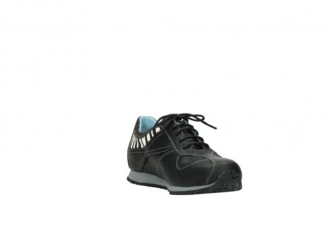 wolky sneakers 1480 ibrox 207 zwart zebraprint leer_17