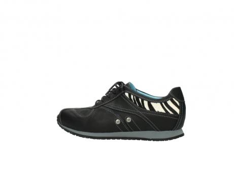 wolky sneakers 1480 ibrox 207 zwart zebraprint leer_2