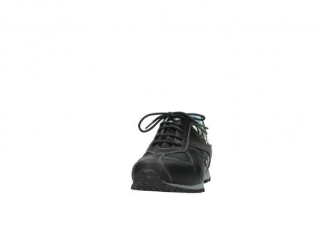wolky sneakers 1480 ibrox 207 zwart zebraprint leer_20