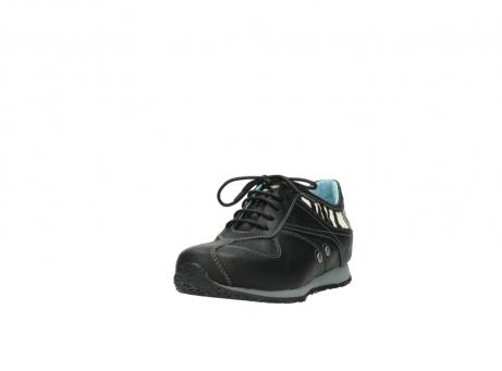 wolky sneakers 1480 ibrox 207 zwart zebraprint leer_21