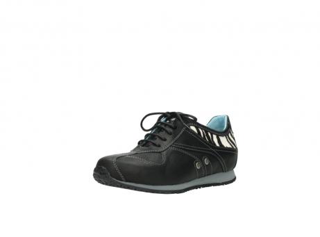 wolky sneakers 1480 ibrox 207 zwart zebraprint leer_22