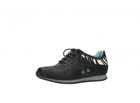 wolky sneakers 1480 ibrox 207 zwart zebraprint leer_23