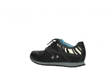 wolky sneakers 1480 ibrox 207 zwart zebraprint leer_3