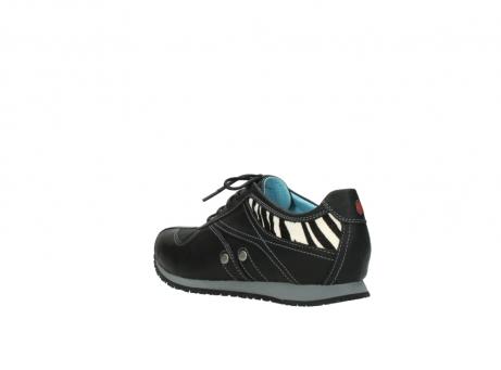 wolky sneakers 1480 ibrox 207 zwart zebraprint leer_4