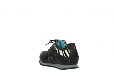 wolky sneakers 1480 ibrox 207 zwart zebraprint leer_5
