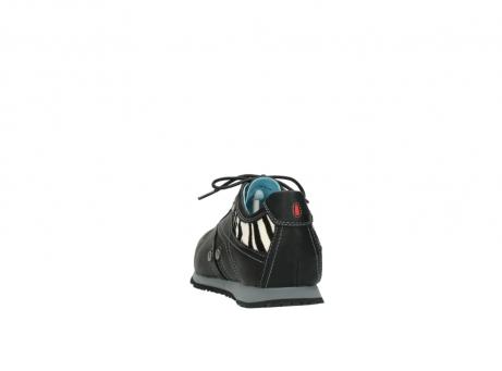 wolky sneakers 1480 ibrox 207 zwart zebraprint leer_6