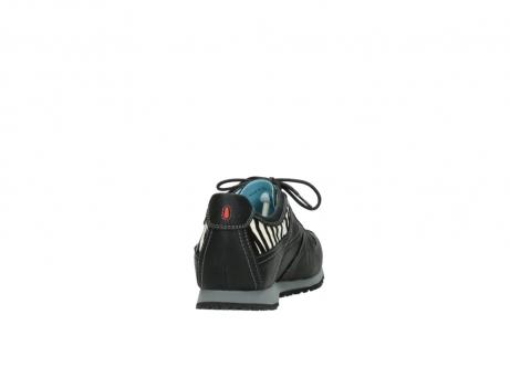 wolky sneakers 1480 ibrox 207 zwart zebraprint leer_8