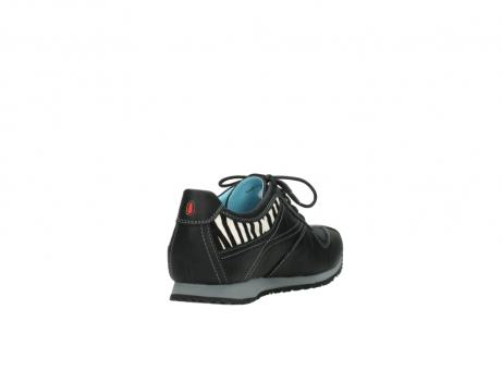 wolky sneakers 1480 ibrox 207 zwart zebraprint leer_9