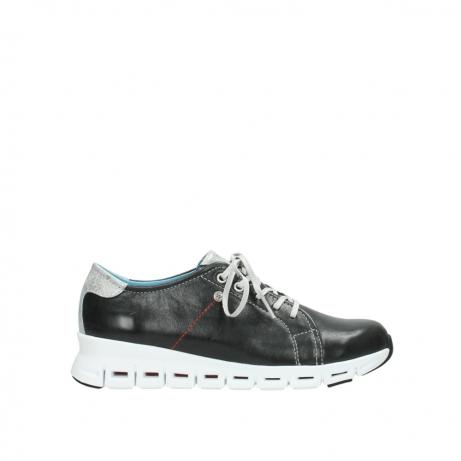 wolky sneakers 2051 mega 307 zwart zomer leer