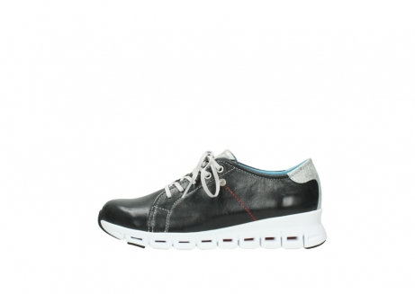 wolky sneakers 2051 mega 307 zwart zomer leer_1