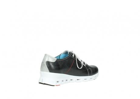 wolky sneakers 2051 mega 307 zwart zomer leer_10