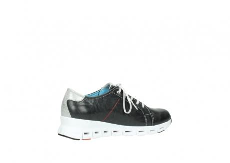 wolky sneakers 2051 mega 307 zwart zomer leer_11