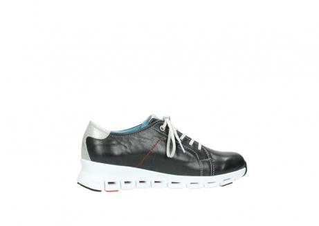 wolky sneakers 2051 mega 307 zwart zomer leer_12