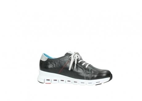wolky sneakers 2051 mega 307 zwart zomer leer_14