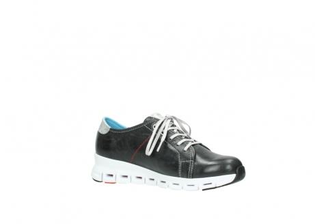 wolky sneakers 2051 mega 307 zwart zomer leer_15