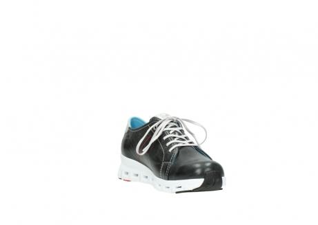 wolky sneakers 2051 mega 307 zwart zomer leer_17