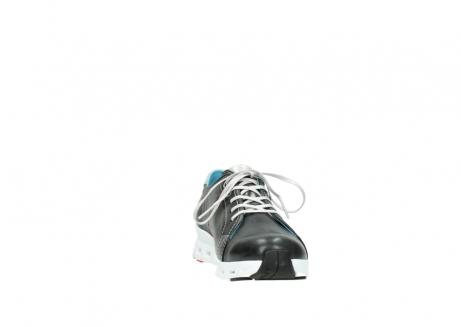 wolky sneakers 2051 mega 307 zwart zomer leer_18