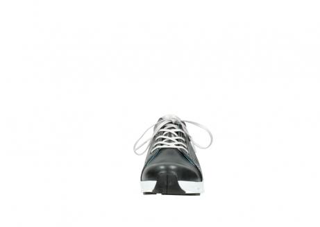 wolky sneakers 2051 mega 307 zwart zomer leer_19