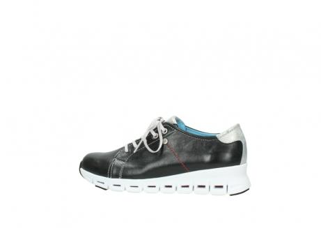 wolky sneakers 2051 mega 307 zwart zomer leer_2