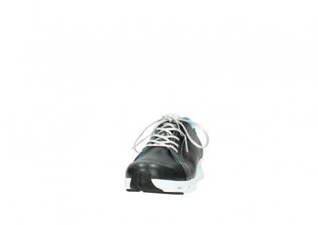 wolky sneakers 2051 mega 307 zwart zomer leer_20