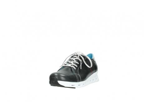wolky sneakers 2051 mega 307 zwart zomer leer_21