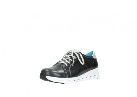 wolky sneakers 2051 mega 307 zwart zomer leer_22