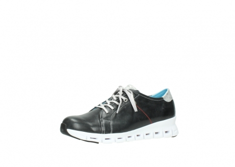 wolky sneakers 2051 mega 307 zwart zomer leer_23