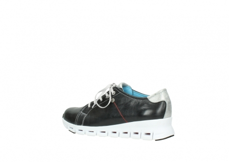 wolky sneakers 2051 mega 307 zwart zomer leer_3