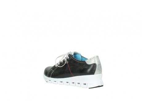 wolky sneakers 2051 mega 307 zwart zomer leer_4