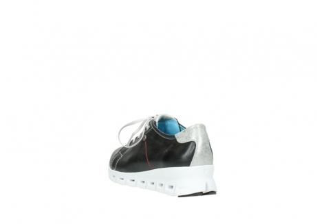 wolky sneakers 2051 mega 307 zwart zomer leer_5