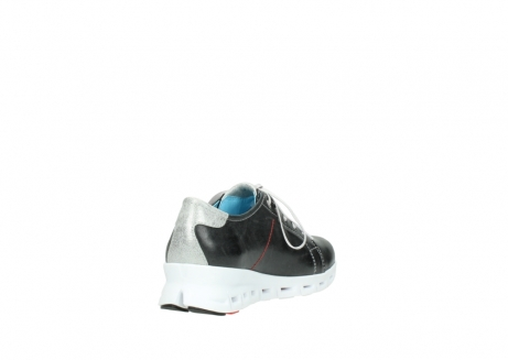 wolky sneakers 2051 mega 307 zwart zomer leer_9
