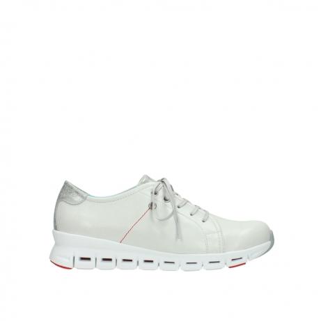 wolky sneakers 2051 mega 312 gebroken wit leer