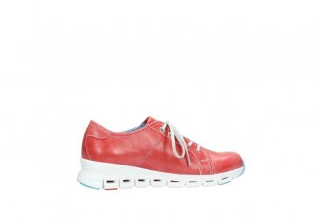 wolky sneakers 2051 mega 357 rot sommer leder_12
