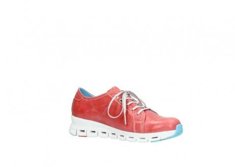 wolky sneakers 2051 mega 357 rot sommer leder_15