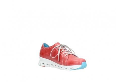 wolky sneakers 2051 mega 357 rot sommer leder_16