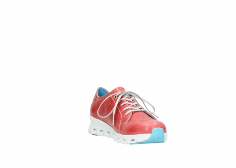 wolky sneakers 2051 mega 357 rot sommer leder_17