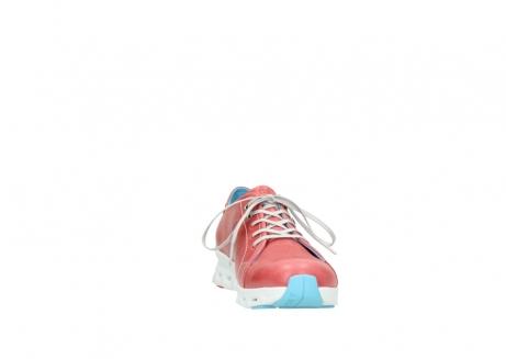 wolky sneakers 2051 mega 357 rot sommer leder_18