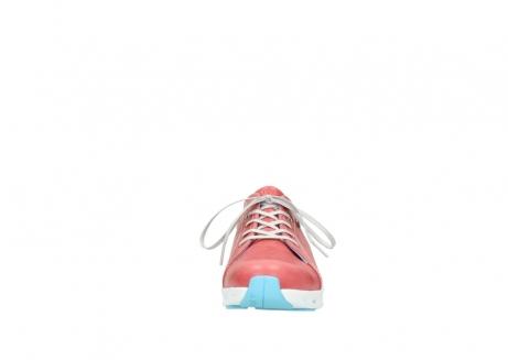 wolky sneakers 2051 mega 357 rot sommer leder_19
