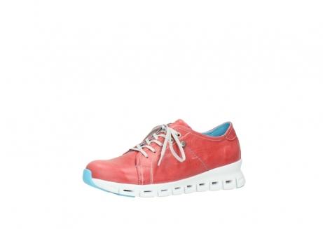 wolky sneakers 2051 mega 357 rot sommer leder_23