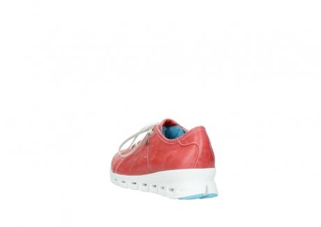 wolky sneakers 2051 mega 357 rot sommer leder_5